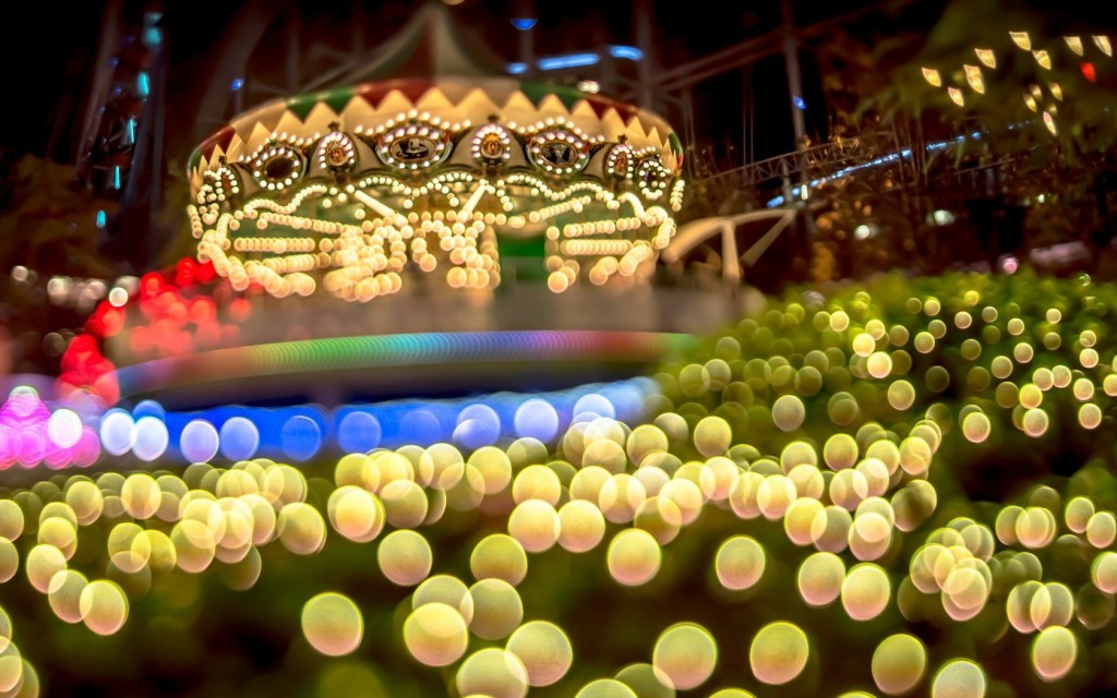 carousel-bokeh-lights-night-hd-wallpaper
